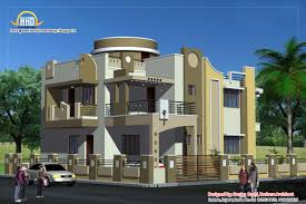 Duplex House Plan and Elevation   Sq  Ft    Indian House PlansDuplex House Elevation   Sq M   Sq  Ft     February