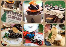 images fancy party ideas: camping themed centerpieces fancy home decor