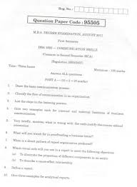 anna university mba communication skills question paper  anna university 1st sem communication skills exam paper