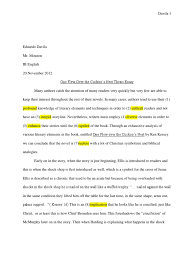 one flew over the cuckoo s nest thesis essay