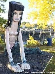 Langlais Sculptures: <b>Girl With A Tail</b>, Skowhegan, Maine