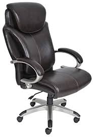 serta 43809 air health and wellness executive office chair big and tall roasted chestnut big office chairs big tall