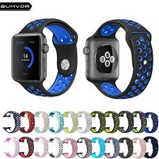 <b>BUMVOR</b> Sport <b>Silicone Strap Band for</b> Apple Watch 44/40/42 ...