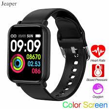 <b>Jeaper Smart Watch</b> E38 Men <b>Waterproof</b> Heart Rate Blood ...