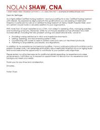 best nursing aide and assistant cover letter examples livecareer edit