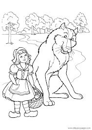 Resultado de imagen para caperucita roja y el lobo feroz para colorear