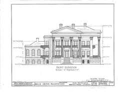 Louisiana  Mansions and Floor plans on PinterestBelle Grove Plantation Mansion  White Castle Louisiana Front Elevation  These floor plans are dreamy