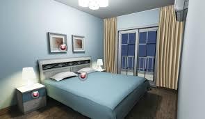 light blue bedroom lighting design rendering bedroom lighting design