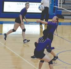 brooklyn center volleyball gains valuable experience molly falnes sends the ball over the net during brooklyn center s 6 25 7