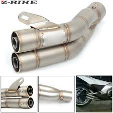 <b>36 51mm Universal Motorcycle Double</b> Exhaust Muffler Pipe For ...