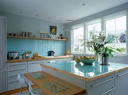 painted blue kitchen cabinets house: white countertops and painted blue kitchen cabinets