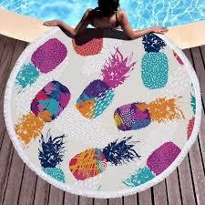 China Bright Pineapple <b>Digital Printing</b> Sunmmer <b>Round Beach</b> ...