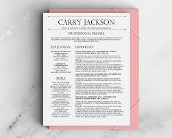 professional modern resume designs carry jackson resume template
