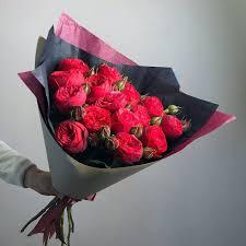 Купить <b>Букет из пионовидных роз</b> Ред Пиано