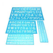 <b>4PCS</b>/Set Flexible Drawing Numbers Letters Guides Template <b>Ruler</b> ...