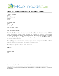 job abandonment letterreport template document report template job abandonment letter 1 jpg