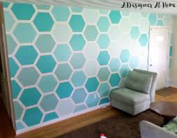 Paint Design Ideas How To Tape Paint Hexagon Patterned Wall