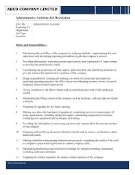 Duties Administrative Assistant Job Description Sample 216 ... duties of an administrative assistant for resume sample administrative assistant duties resume job description