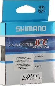 <b>Леска зимняя Shimano</b> Aspire Silk S Ice, цвет: прозрачный, 50 м, 0 ...
