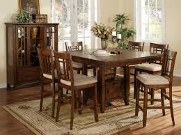 tall dining chairs counter: alluring dining room design using tall dining table and chairs amusing dining room design ideas
