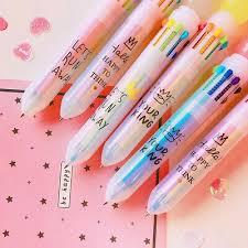 <b>2Pcs Multicolor</b> 10 In 1 Ballpoint Pen Cartoon <b>Animal</b> School ...