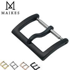 <b>MAIKES</b> New Arrival <b>16mm 18mm 20mm</b> 316L Stainless Steel Black ...