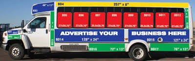 bus advertising show low az official website advertisement spots on bus from side