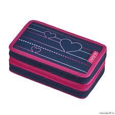 <b>Пенал Herlitz</b> Heartbeat <b>31</b> предмет, 3 молнии купить по цене 1 ...