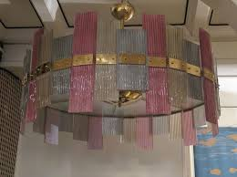 <b>Murano Glass</b> and Brass <b>Chandelier</b>, 1970s for sale at Pamono
