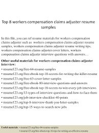 claims adjuster resume sample sample grant cover letter top8workerscompensationclaimsadjusterresumesamples 150527125151 lva1 app6891 thumbnail 4 top 8 workers compensation claims adjuster resume samples