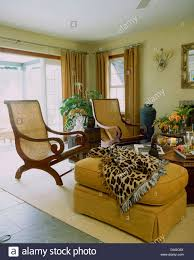 Leopard Print Living Room Leopard Print Stool In Country Living Room With Trophy Fish In