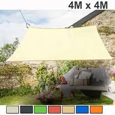 <b>4m x 4m Sun Shade</b> Sail Garden Patio Awning Canopy Screen 98 ...