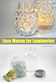jar crafts home easy diy: diy easy mason jar luminaries header mason jar lights momspark diy easy mason jar luminaries