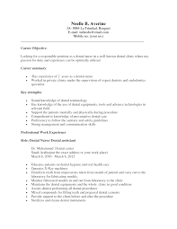 executive career objective and summary and key strengths dental fullsize
