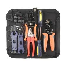 <b>SN</b>-2546B MC4 Connectors <b>Crimping Tool</b> Kit includes ...