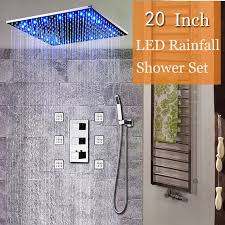 Modern Thermostat <b>Shower</b> Faucets Ceiling Led Rain <b>Shower 20</b> ...