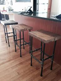 table bar height chairs diy: stools i made with pipe and reclaimed wood