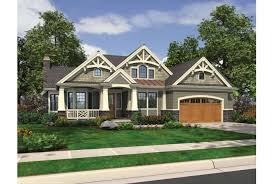 Eplans Traditional House Plan   Rustic Rambler   Expressive    Front