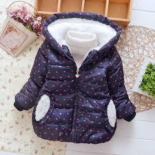 Girls Warm Outerwear Children <b>Clothing Cute Cotton</b> Winter ...