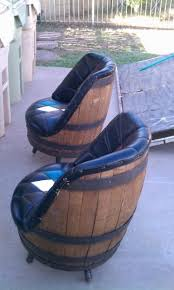 some whiskey barrel chairs to go around that spool table authentic jim beam whiskey barrel table