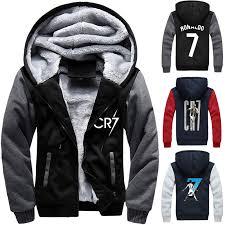 <b>Cristiano Ronaldo</b> Zipper Hooded sweatshirt Men Trick Flannel ...