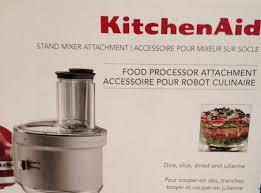 Kitchen Aid Appliances Reviews Kitchenaid Food Processor Attachment Review Youtube