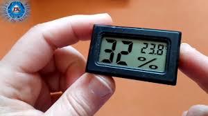 <b>Mini Digital LCD</b> Indoor Thermometer Hygrometer-BLACK ...
