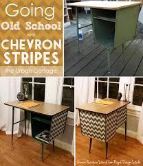 chevron stripe stencil on furniture chevron painted furniture