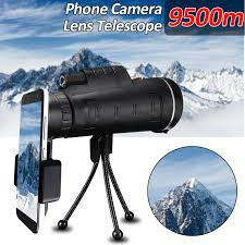 <b>40X60 High</b> Power Compact Monocular Telescope <b>HD</b> Dual Focus ...