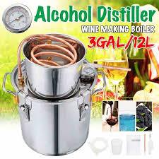Durable <b>12L</b> DIY Home Distiller <b>Moonshine</b> Alcohol Stainless ...