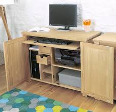 baumhaus aston oak hidden home office desk cvr06a baumhaus aston oak hidden