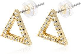 <b>1 Pair Men's</b> Hip Hop Stud Earring Copper Material Stone Fashion ...