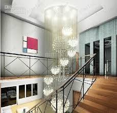 dia 80xh220cm led crystal light modern spiral staircase lamps hanging chandelier pendant dorplight duplex villa living room lighting hotel lobby application lamps staircase