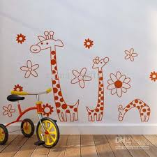 Small Picture Wholesale Removable Giraffes Wall Stickers Kids Room Wall Decor